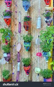 Vertical Garden Blanket Vertical Garden Decorated Recycled Materials Stock Photo 624224987