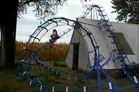 roller coaster for backyard homemade backyard rollercoaster now with a loop video