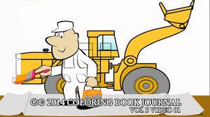 trucks for kids coloring page wheel loader coloring book youtube