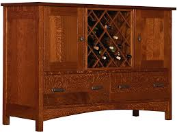 cove hollow dining room legends buffet w wine rack sw8880w