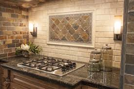 rustic kitchen backsplash modern yet rustic this hearth style backsplash features from