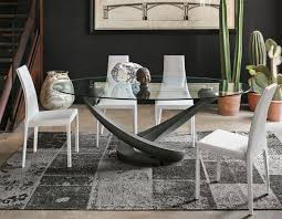oval glass dining table contemporary oval glass dining table with base in graphite grey