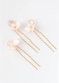 bridal hair pins fleurette blush pearl bridal hair pins tania maras bespoke
