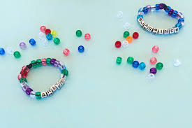 bracelet name beads images Beaded name bracelet disney family jpg