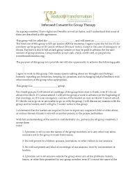 informed consent form example group therapy plymouth dome