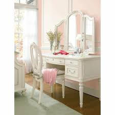 Vanities With Drawers Girls Glam 3 Drawer Desk Vanity With Stool Dark Cherry Hayneedle