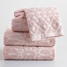 blush madeleine sculpted bath towel towels bath and bath decor