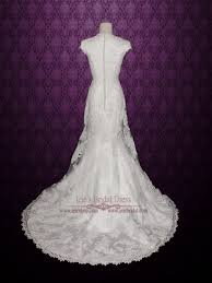 modest vintage lace wedding dress with cap sleeves sally ieie