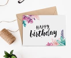 printable birthday card for her printable birthday cards brush