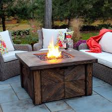 slate fire pit table natural gas fire pit table global outdoors costco propane set round