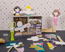 mermaid paper doll puppet craft kits for kids and adults set of 30