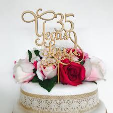 35 year wedding anniversary 35 years loved cake topper anniversary cake topper cake decoration