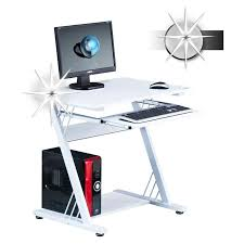 tablette coulissante bureau informatique firo avec tablette coulissante blanc brillant