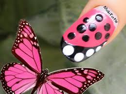 easy dotting tool nail art for beginners butterfly inspired