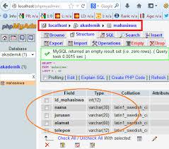 membuat database akademik dengan mysql input data ke database dengan php dan mysql smart blog