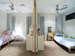 split bedroom children room bedroom design idea carpet sliding doors using house