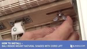 how to install bali natural woven wood shades with cord lift
