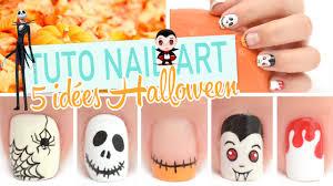 5 idées nail art pour halloween youtube