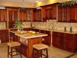Kitchen Backsplash Cherry Cabinets by Excellent Rustic Cherry Kitchen Cabinets Rustic Hickory Kitchen