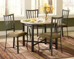 Granite Top Dining Room Table by Round White Granite Dining Table On Black Iron Legs Also Black