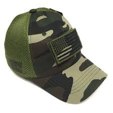 American Flag Flat Bill Hat Us Army Desert Digital Camo Vintage Cotton Cap Usa Flag Patch
