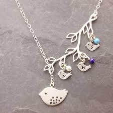 mothers day birthstone necklace mothers necklace 1 6 kids birthstone necklace and