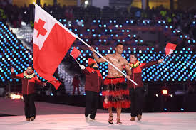 Olimpics Flag Tonga U0027s Shirtless Oiled Up Flag Bearer Made It To The Winter