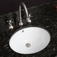 bathroom sleek round undermount bathroom sink with 3 hole faucet