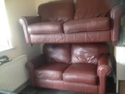 Multiyork Leather Sofas As New Multiyork Audley Leather Sofa U0026 Snuggler Chair In Great