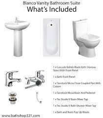 tavistock micra space saving bathroom suite waste u0026 taps
