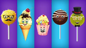 cake pop ice cream cup cake chocolate and lollipop finger