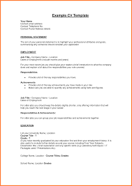 resume personal statement example ceo resume example how the