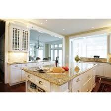 white cabinets with new venetian gold granite and dark wood floors