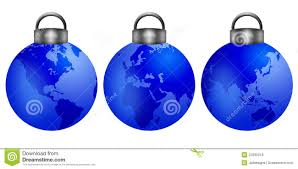 tree ornaments with world map royalty free stock photos