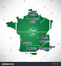 France Cities Map by Map France Cities Football Stadiums Vector Stock Vector 402415933