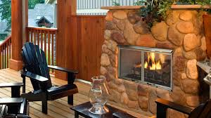 villa gas outdoor gas fireplace majestic products