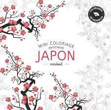 Livre Mini coloriage antistress «Japon» Collectif Marabout