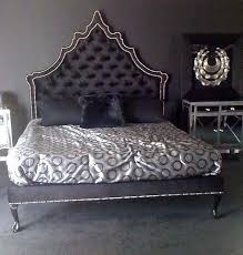 Tufted Headboard Footboard Amazing Black Tufted Headboard With Crystals 86 For Your Ikea Twin