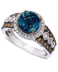 blue rings white images Le vian blue topaz 2 ct t w and white and chocolate diamonds tif