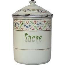 enamel kitchen canisters vintage french enamel sugar canister graniteware sucre jar red