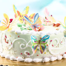 edible cake topper 20pcs set butterfly mixed edible cake topper wafer cake decorated