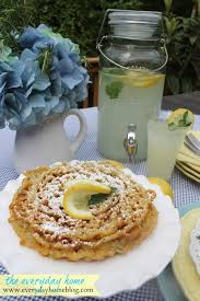 lemon mint funnel cake recipe by the everyday home