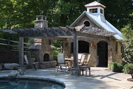 outdoor entertaining poolside cabana in newtown ct