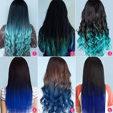 vpfashion extensions top 5 black brown hair extensions with blue tips on