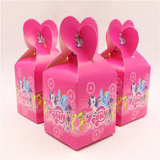 My Little Pony Gift Wrapping Paper - 6pcs lot new cartoon my little pony paper bags baby shower