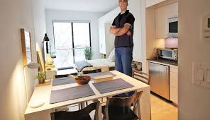 america u0027s tallest man moves into nyc u0027s first micro apartment