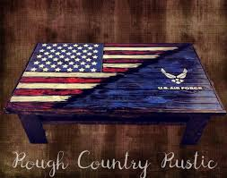 American Flag Home Decor Deluxe Home Defense Coffee Table Charred American Flag With Torn