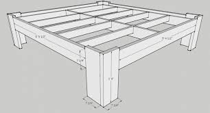 Plans For King Size Platform Bed With Drawers by Bed Frames Bed Plans With Drawers Plans For Building A Bed Frame