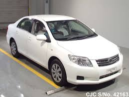 2011 toyota corolla axio white for sale stock no 42163