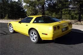 corvette zr1 yellow 1991 chevrolet corvette zr1 186858